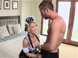 red-hot maid Capri Cavanni gives her boss some extras