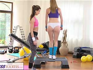FitnessRooms super-steamy honeys having intercourse in the gym