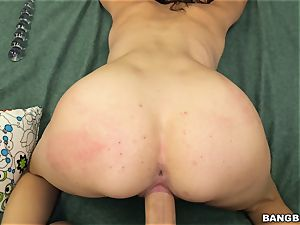 Cece Capella treats her taut minge to a large spear