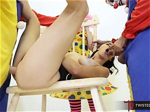 Dana Vespoli banged by creepy giant meatpipe clowns