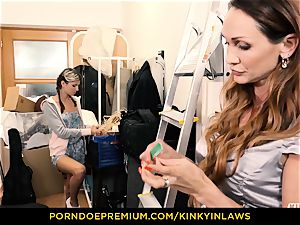 naughty INLAWS - Gina Gerson screwed by milf with wand
